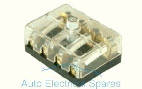 190770 Ccontinental fuse box 4 way with screw terminals 6v / 12v