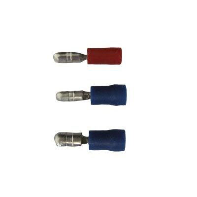 BULLET TERMINAL 5.0mm MALE x 10 BLUE