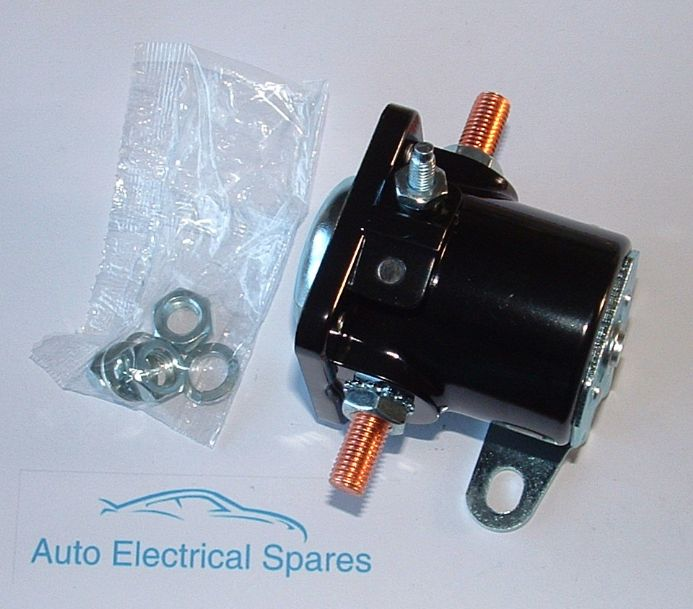 UNIVERSAL 6 VOLT 3 TERMINAL STARTER SOLENOID SWITCH WITH PUSH BUTTON CONTACT 6V