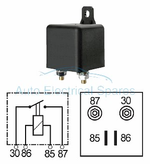 160477 Heavy duty relay 12V 100A continuous LOAD 4 Terminal ( split charge )