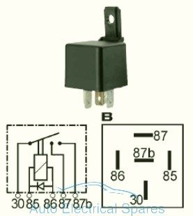 160934 Double contact relay 12v 2 x 20A with diode