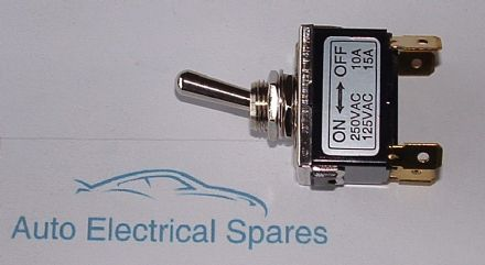 CLASSIC toggle switch 2 position 3 terminals METAL CHROME KIT CAR