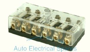 190772 Continental fuse box 6 way with screw terminals 6v / 12v