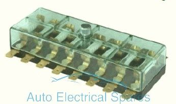 190775 Continental fuse box 8 way with lucar terminals 6v / 12v