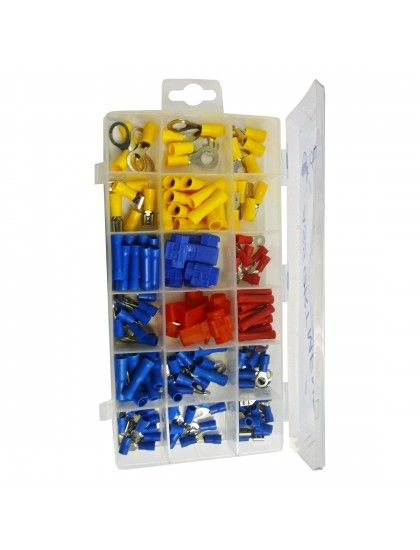 Assorted Insulated Crimp terminals x 160