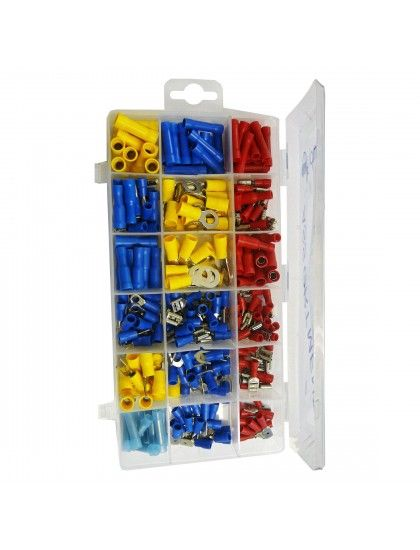 Assorted Insulated Crimp terminals x 260