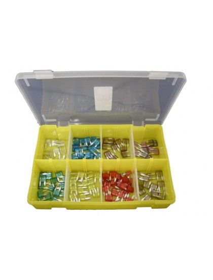 Assorted Mini Blade Fuses x 125
