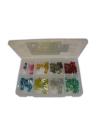 Assorted Mini Blade Fuses x 200