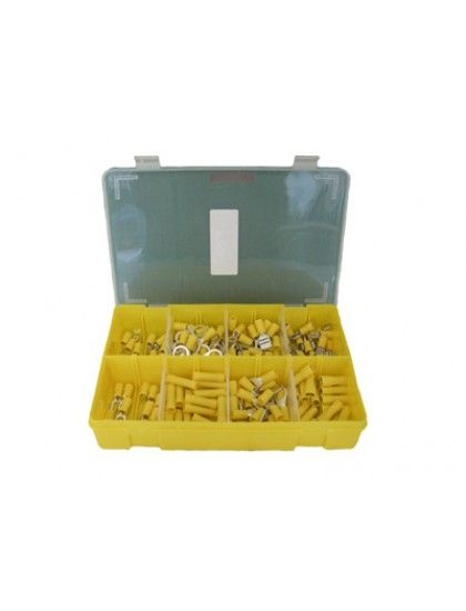 Assorted YELLOW  Insulated Crimp Terminals x 140