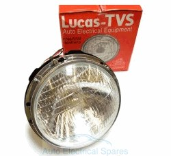 "Lucas TVS F700 S700 BPF Prefocus Headlight / Headlamp Unit 7"" NON PILOT COMPLETE"